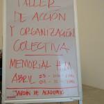 Memorial H.M. Taller de acción y organización colectiva.